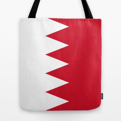 The flag of the Kingdom of Bahrain - Authentic version Tote Bag by LonestarDesigns2020 - Flags Designs + - $22.00