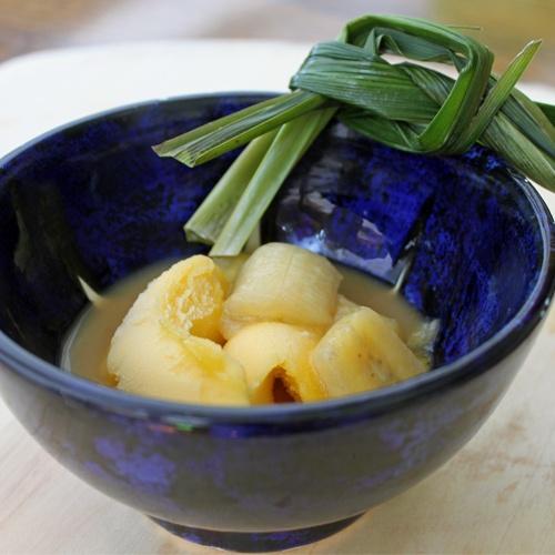 Indonesian Kolak Pisang: Bananas with Coconut Milk, Pandan and PalmSugar