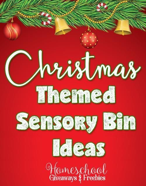 Christmas Themed Sensory Bin Ideas Holiday Freebies Pinterest