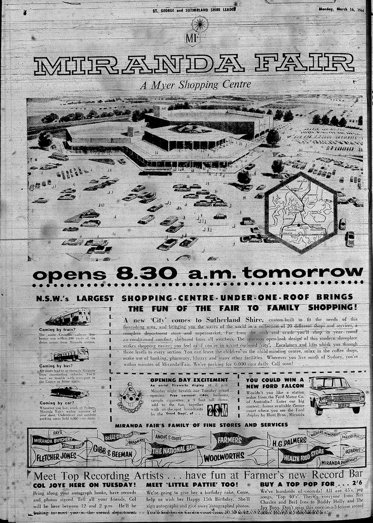 Miranda fair opening 1964 #Projects & Discussion | NSW | Shopping Centres & Retail News - Page 163 - SkyscraperCity