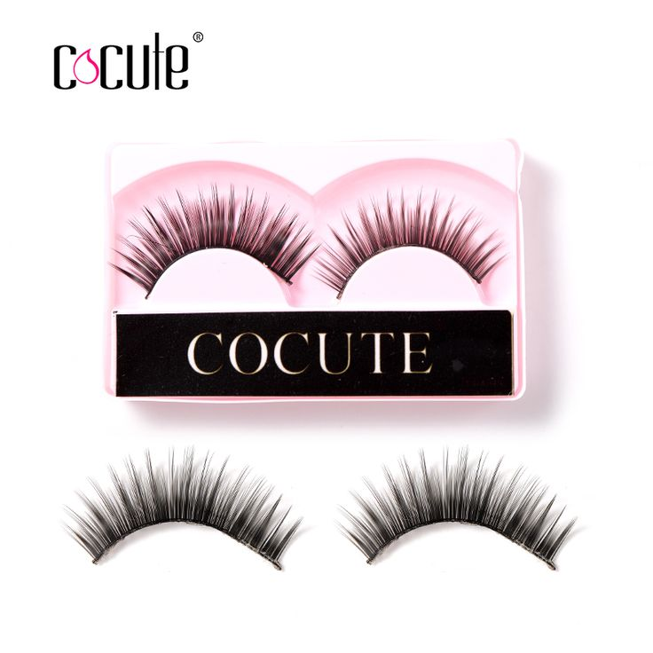 Cocute 1 Pair Women Makeup 100% Real Thick 3D False Eyelashes Popular Messy Nature Eye Lashes Black Handmade Lashes Extension