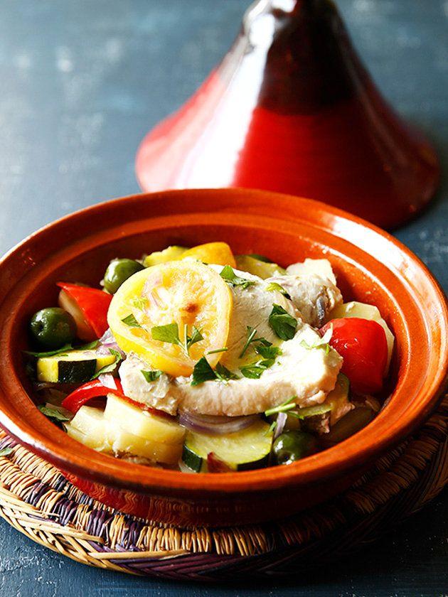 【ELLE a table】かじきまぐろと塩レモンのタジンレシピ|エル・オンライン