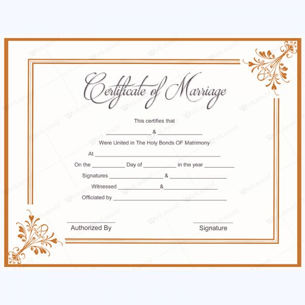 Best Marriage Certificate Images On   Marriage