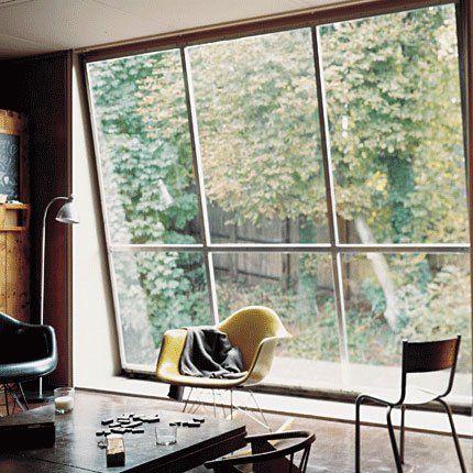 Une verrière intérieure pour éclairer son salon - Living room with big windows for a beautiful view