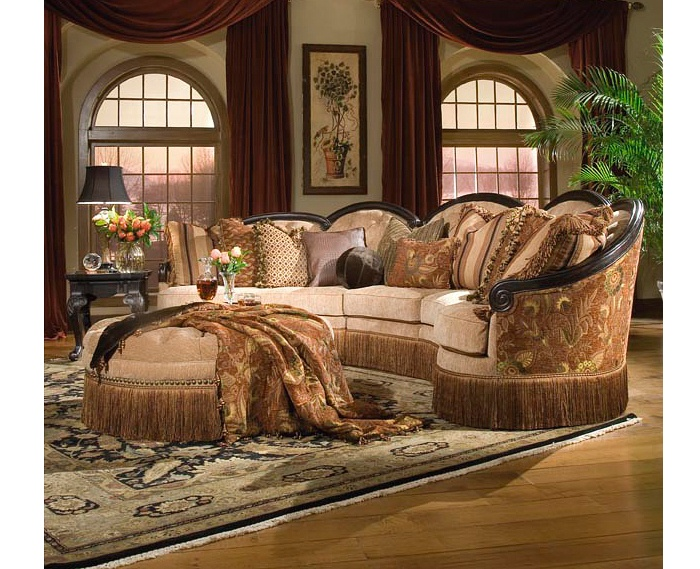 Grace Traditional Conversational Sectional Sofa By Rachlin Classics    Riverview Galleries   Sofa Sectional Furniture Store NC By Riverview  Galleries Located ...