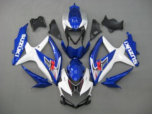 Fairings Suzuki GSXR 600 750 White & Blue GSXR Racing (2008-2009