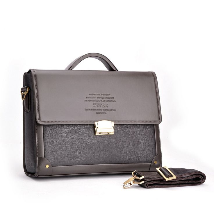 2016 New Men Business Briefcase With Lock Fashion Shoulder Bag Classic Style Case Formal Business Lawyer Briefcase