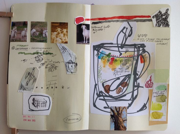 Élise Palardy sketchbooks The Life Out Loud: Turning Dreams Into Reality With Vision Boards  MeiMei Fox http://www.huffingtonpost.com/meimei-fox/life-lessons_b_4118887.html