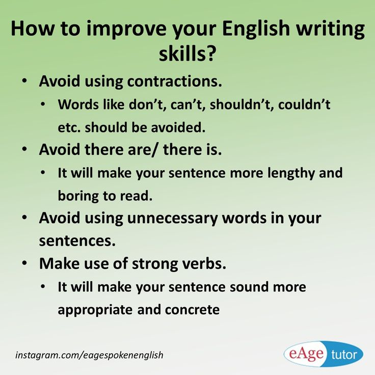 improve writing skills in english online Honing good writing skills at an early age is great for your child's development help along the learning process with these ten great online resources.