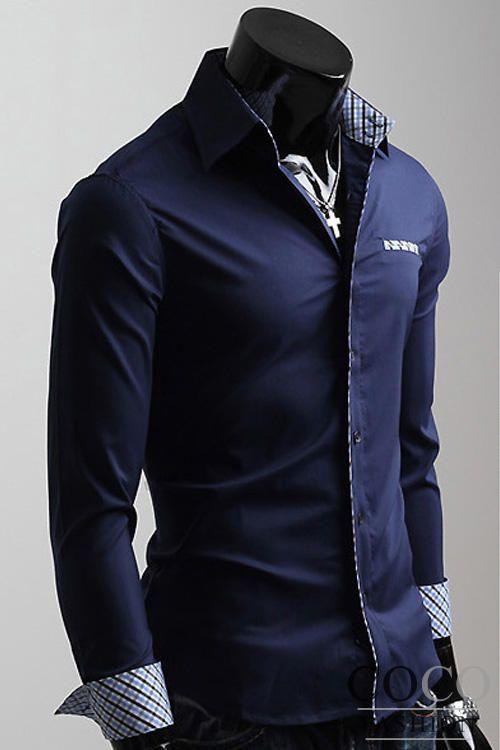 Trendy Long Sleeve Mens Shirt