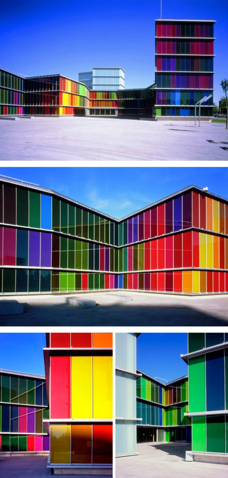Colorful buildings @ The Contemporary Arts Museum Of Castilla Y León (by Mansilla + Tuñón Arquitectos) Spain #architecture ☮k☮