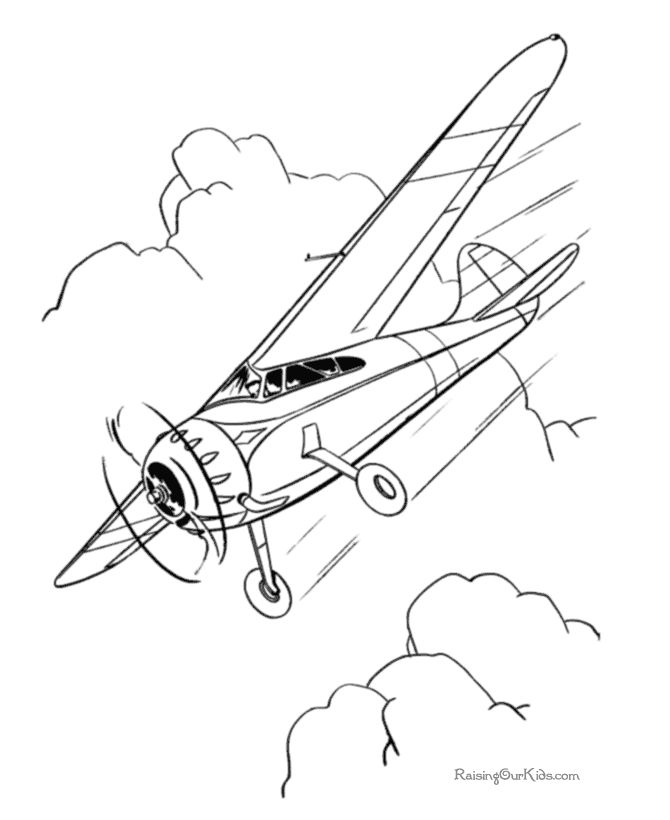 old planes coloring pages - photo#15