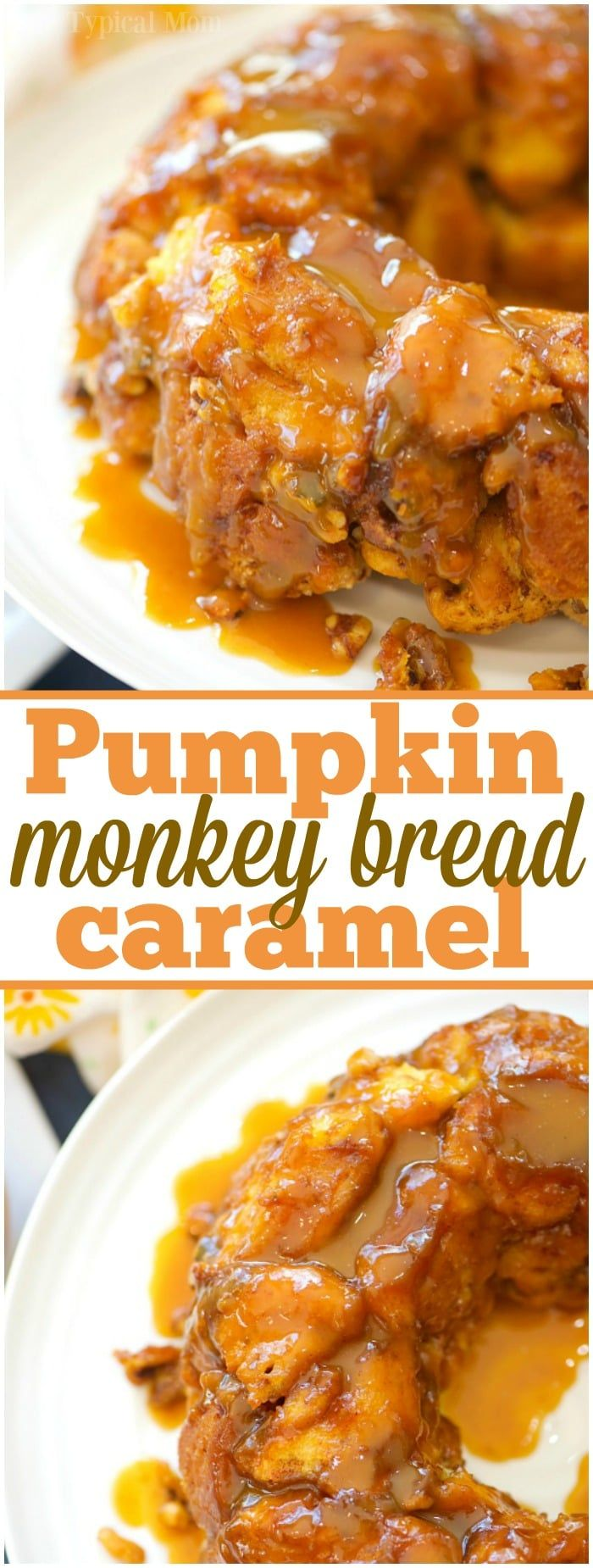 This is the most amazing caramel pumpkin monkey bread you will ever make and it is really easy too!! The best Fall breakfast or dessert I've ever made! via @thetypicalmom