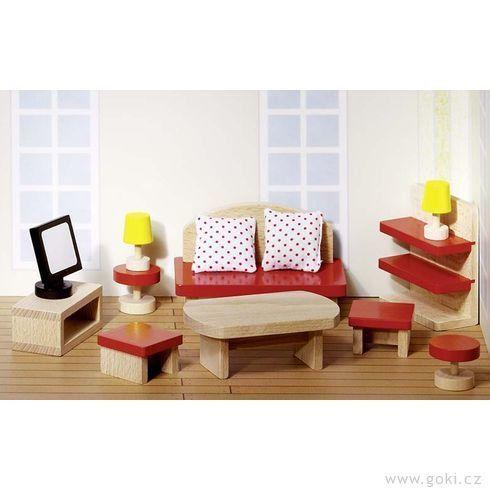 Nábytek pro panenky do domečku BASIC > varianta obývací pokoj