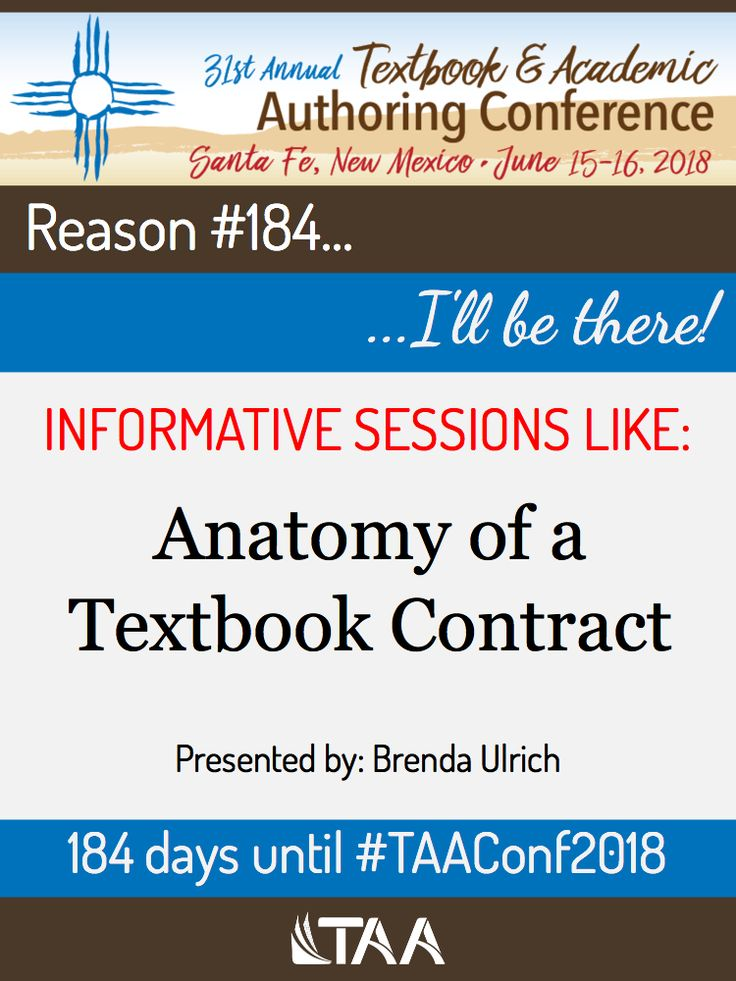 Reason #184...Anatomy of a Textbook Contract...I\'ll be there ...