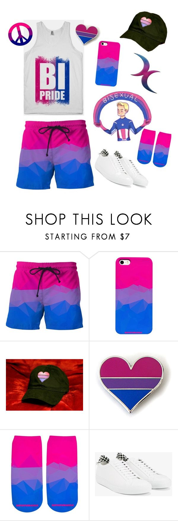 """""""Bisexual Pride 2017"""" by bigtexfunkadelic ❤ liked on Polyvore featuring Givenchy, pride, lgbt, bisexual, bi and BigTexFunkadelic"""