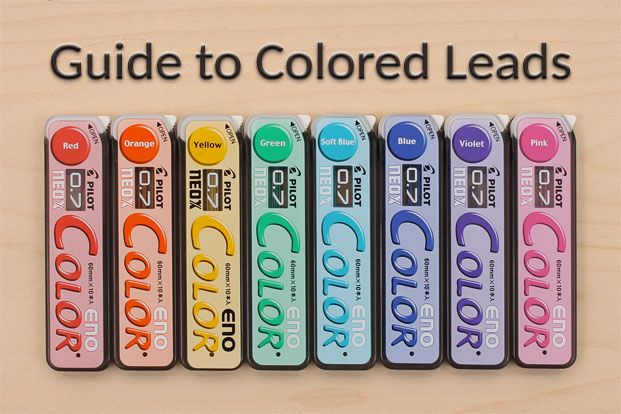 Guide+to+Colored+Mechanical+Pencil+Leads