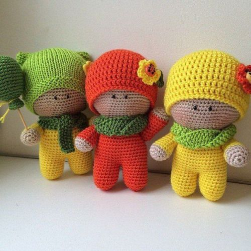 Check out these little amigurumi cuties. Free pattern HERE via... | Mingky Tinky Tiger + the Biddle Diddle Dee | Bloglovin'