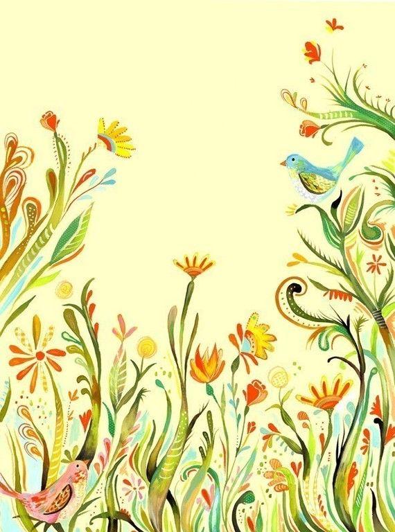 Garden Party   -   vertical print