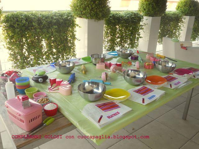 Compleanno di Arianna. tavolo di lavoro prima dell'arrivo delle #BABY CHEF