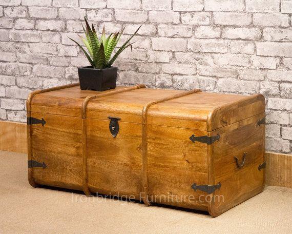 Solid Mango wood merchants chest / mariners by IRONBRIDGEFURNITURE