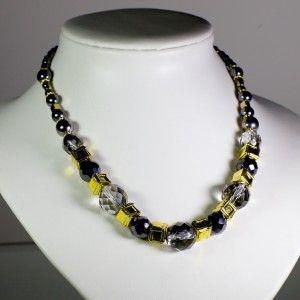 Swarovski crystal and Czech glass bead necklace