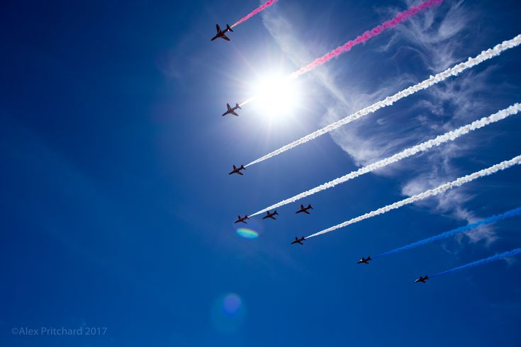 Swansea beach air show the red arrows