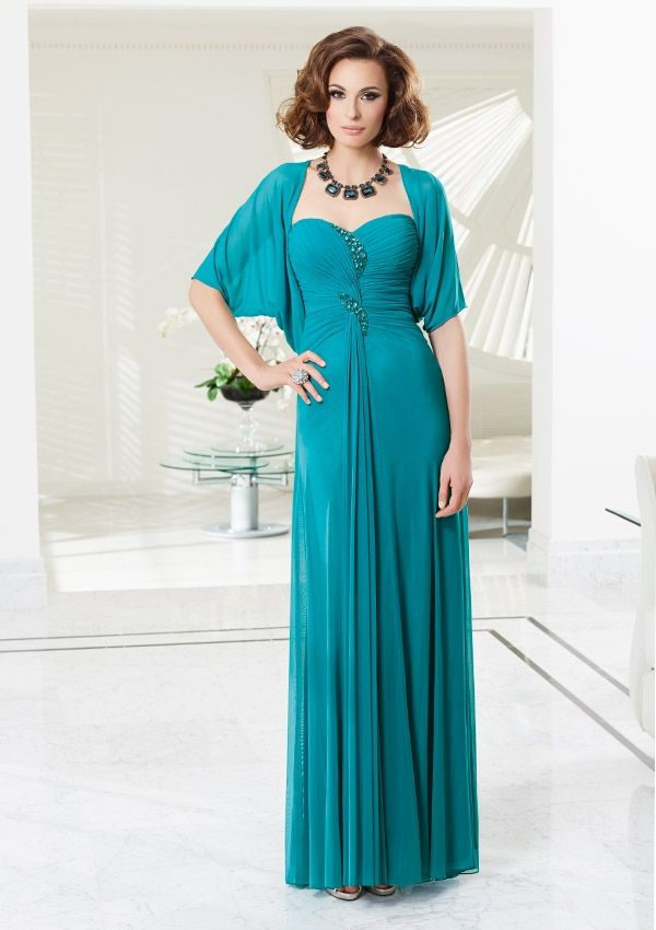 Generous A-line Sweetheart Beading&Crystal Detailing Ruching Floor-length Chiffon Mother of the Bride Dresses