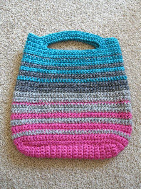 Bolsa de #croche Colorida/Listrada