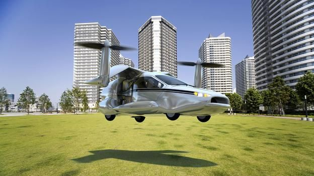 BBC - Future - Flying cars: Radical concept design aims high. Terrafugia originally hoped to be shipping its less radical Transition in 2009, but now says the first customers will take delivery sometime in 2015 or 2016. As for the TF-X, Dietrich acknowledges the concept is a long way from becoming airborne, but he says discussing the idea early is a way to shorten the time it will take to make it a reality, which he currently estimates as between eight and 12 years.