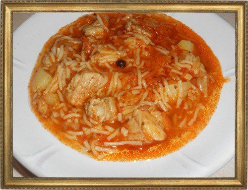 Быстрый суп с томатом.
