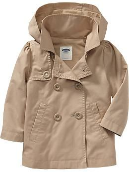 Hooded Twill Trench Coats for Baby | Old Navy