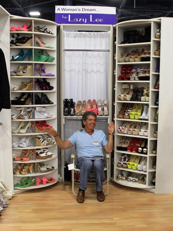lazy lee closet storage system fantastic good stuff pinterest placard chaussures. Black Bedroom Furniture Sets. Home Design Ideas
