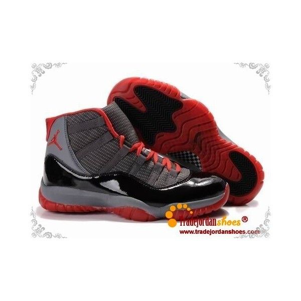Jordan Shoes Air Jordan 11 Retro Dots Grey Black Red [Air Jordan 11 - Air  Jordan 11 Retro Dots Grey Black Red shoes with the cool upper do look very  ...
