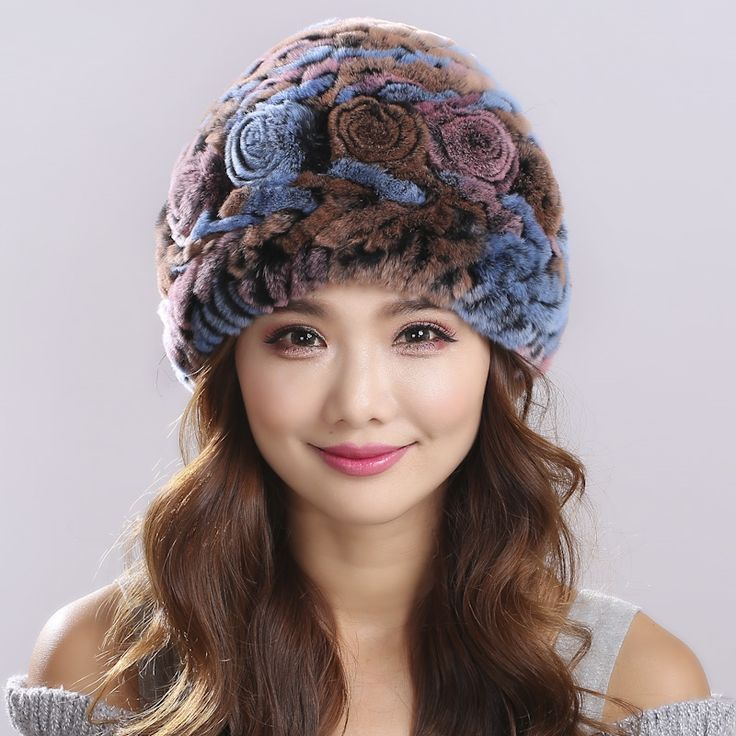 28.83$  Watch now - http://aion6.worlditems.win/all/product.php?id=32725180368 - Russian Winter knitted fur Cap women's hat natural rex rabbit fur hats#H9007