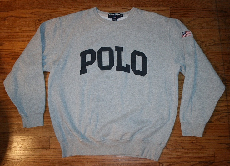 Vintage POLO SPORT RALPH LAUREN SWEATSHIRT shirt-Men's Large-football/golf/sewn USA Flag
