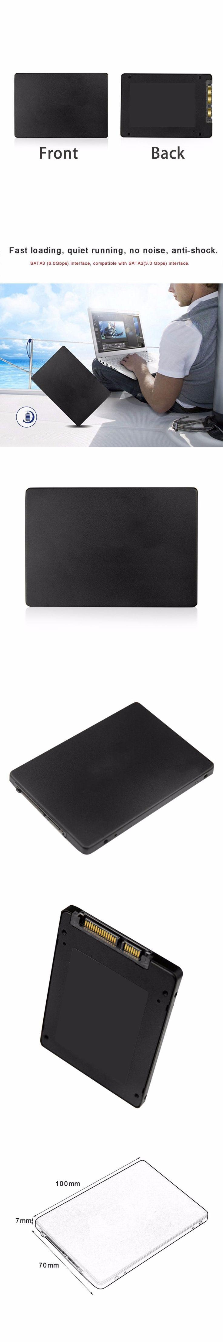 "2.5"" SSD SATA3.0 Hard Disk 120GB High Speed SSD Hard Drive Disk Disc Solid State Disks For Desktop Laptop Computer PC Hot Sale"