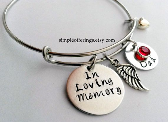 4a2285f9529636 Memorial Bracelet, In Memory of Dad, Mom, Husband, Son, Remembrance Jewelry,  Memorial Jewelry, Sympathy Gift, Personalize bracelet, Memory
