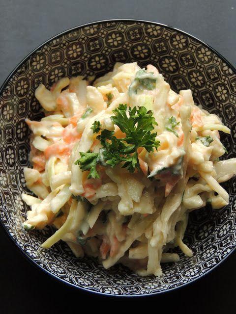 MIDI CUISINE: Coleslaw au tofu soyeux et aux cajous {recette légère}