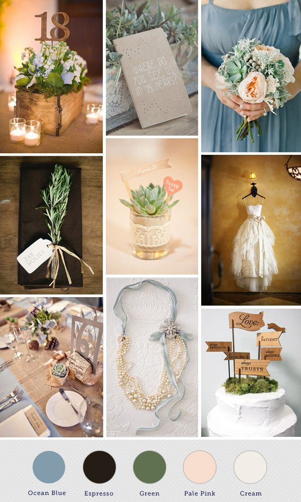 I Would Love To Have These Colors In My Wedding Seafoam Ivory Burlap Green Rustic Woodsy Woods Blue Lace Succulent Late Summer August