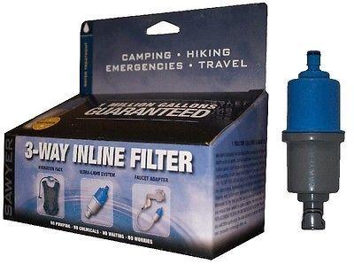 Sawyer 3 Way Inline Camping Water Filter (SP122)