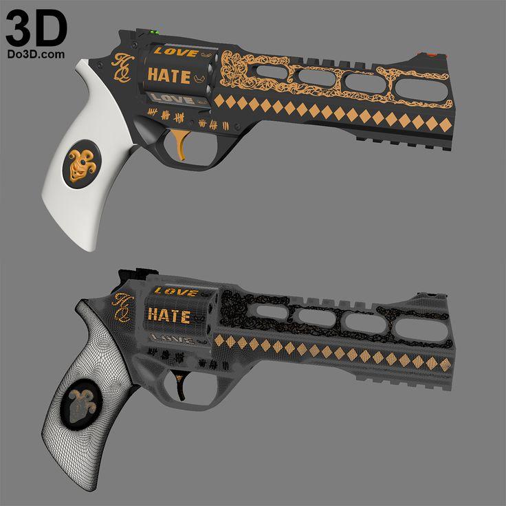 3d Gun Image 3d Home Architect: 3D Printable Model: 3D Printable Harley Quinn's Revolver