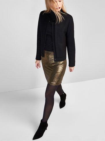 GOLD SEQUINNED SKIRT voor WOMEN - Skirts van Massimo Dutti voor de herfst winter 2016 à 59.95. Natuurlijke elegantie!