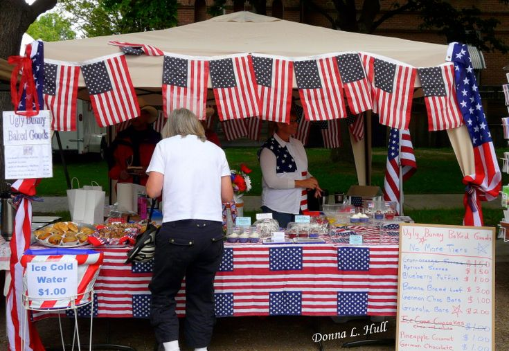 You'll find booths at the Hamilton Farmer's Market all decked out on the 4th of July.