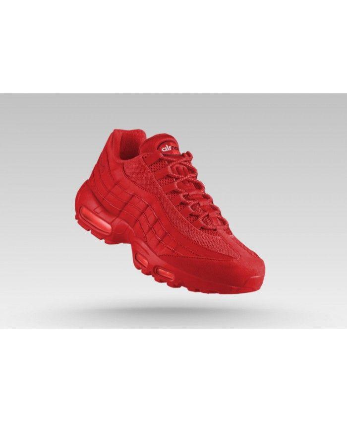 b2f7441e5b Nike Air Max 95 Junior All Red Sale | nike junior | Nike Air Max ...