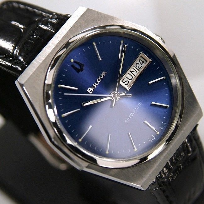 17 best images about vintage bulova men s watch bulova mens automatic 17jewels day date blue dial swiss rare antique used watch bulova