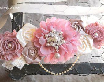 Rosa faja maternidad / rosa y blanco sus una por ATARAHSCREATIONS