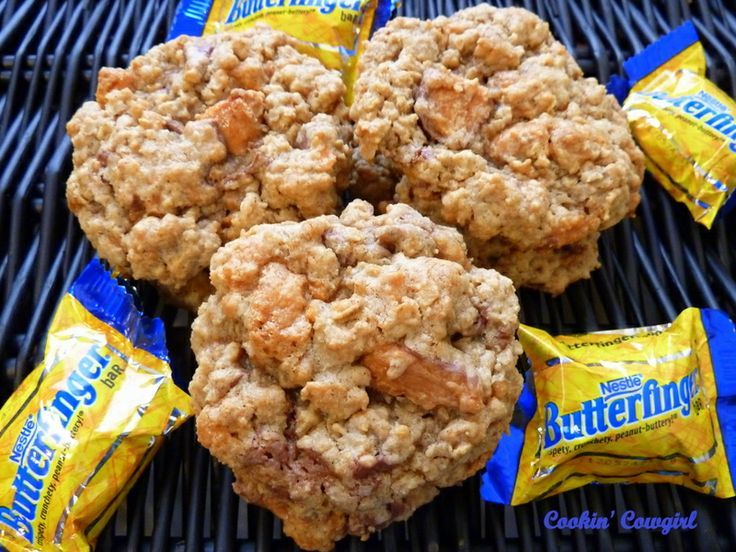 Butterfinger Oatmeal CookiesDesserts, Oatmeal Cookies, Birthday, Butterf Cake, Butterf Oatmeal, Sweets Treats, Butterfinger Oatmeal, Butterfinger Cookies, Sweets Tooth