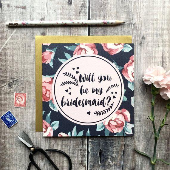 Will You Be My Bridesmaid Card  Bridesmaid Card  Bridesmaid