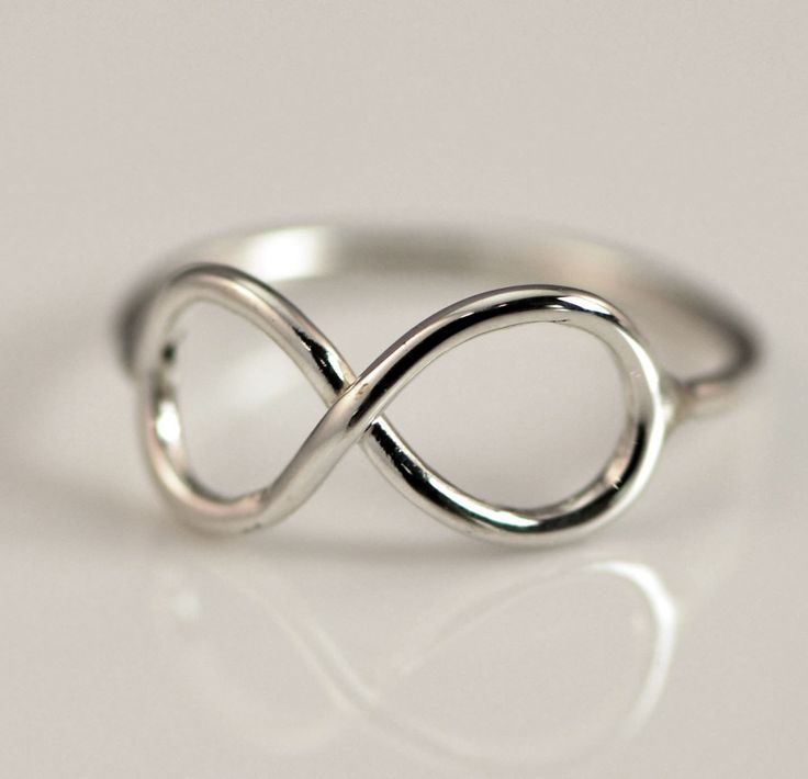 ON SALE Infinity Ring - Thumb Ring - Infinity Jewelry - Promise Ring - Argentium Strerling Silver Jewelry - Handmade. $19.96, via Etsy.